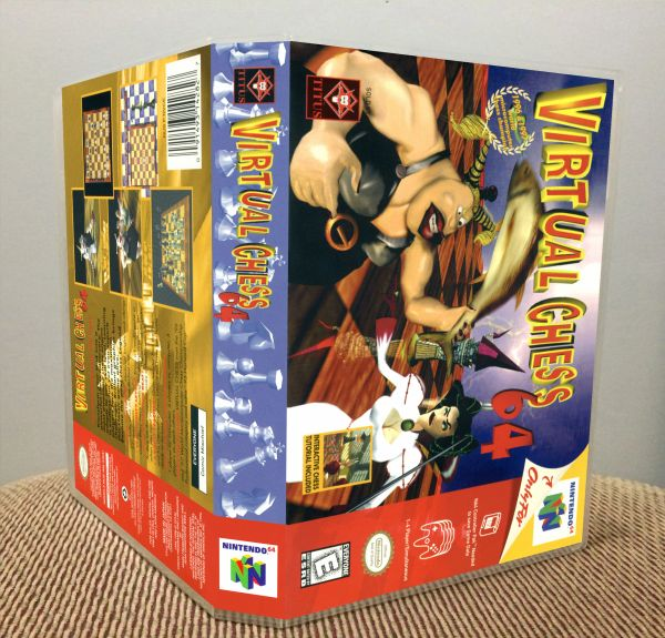 Virtual Chess 64 N64 Game Case with Internal Artwork