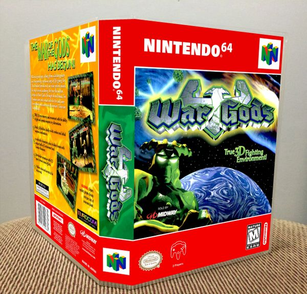 War Gods N64 Game Case with Internal Artwork
