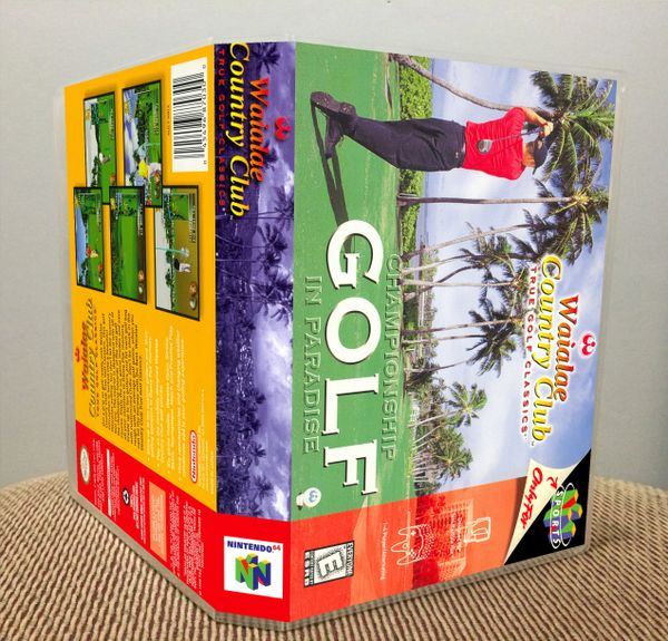 Waialae Country Club: True Golf Classics N64 Game Case with Internal Artwork