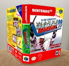 Wayne Gretzky's 3D Hockey '98 N64 Game Case with Internal Artwork