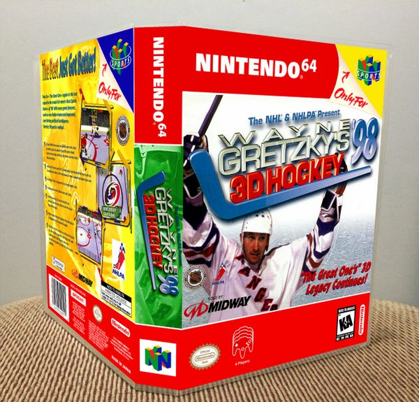 Wayne Gretzky's 3D Hockey '98 N64 Game Case with Internal Artwork