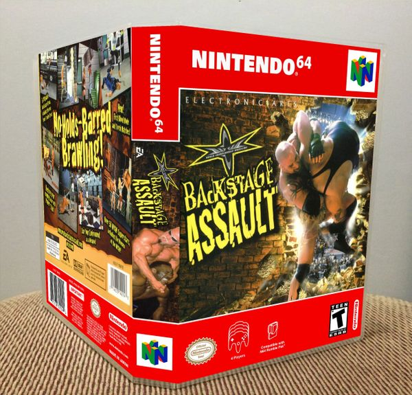 WCW Backstage Assault N64 Game Case with Internal Artwork