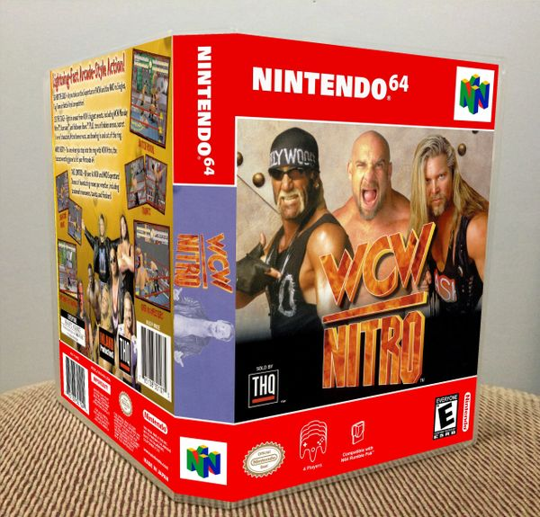 WCW Nitro N64 Game Case with Internal Artwork