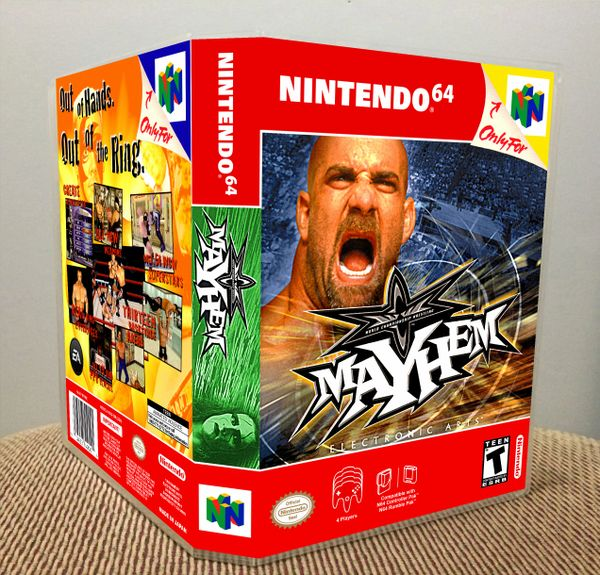 WCW Mayhem N64 Game Case with Internal Artwork