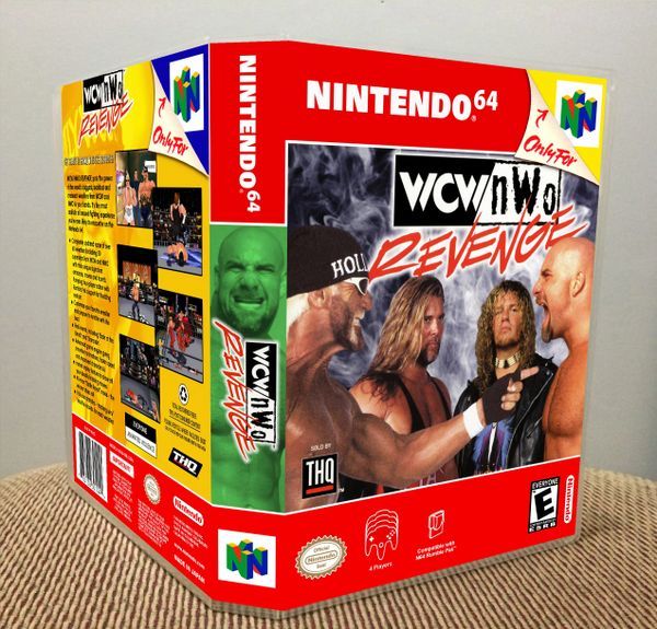 WCW/nWo Revenge N64 Game Case with Internal Artwork