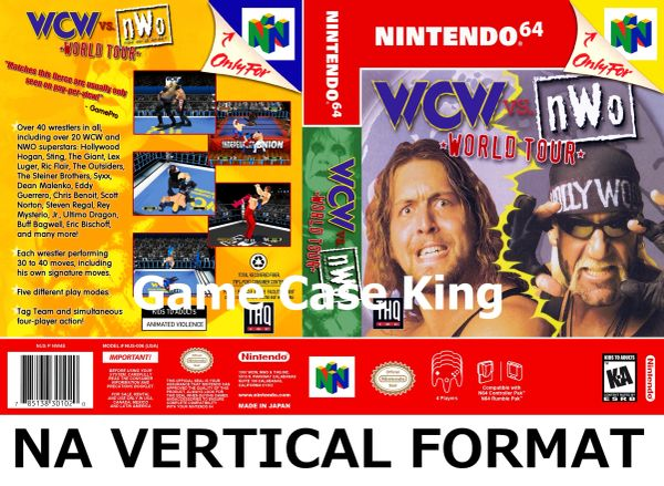 WCW vs. nWo: World Tour N64 Game Case with Internal Artwork