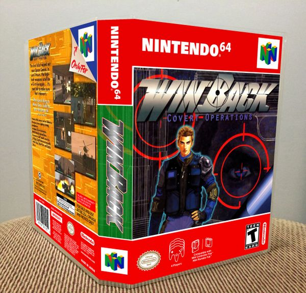 WinBack N64 Game Case with Internal Artwork
