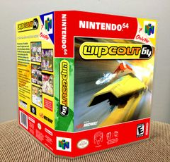 Wipeout 64 N64 Game Case with Internal Artwork