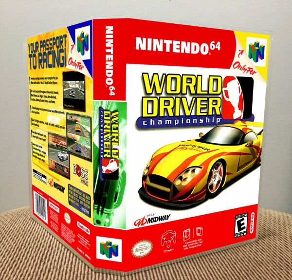 World Driver Championship N64 Game Case with Internal Artwork