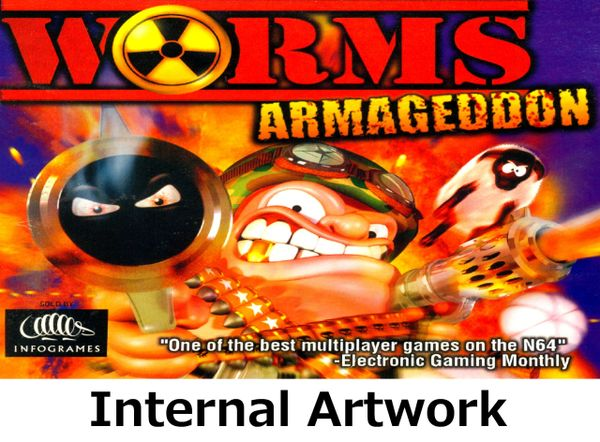 Worms Armageddon N64 Game Case with Internal Artwork