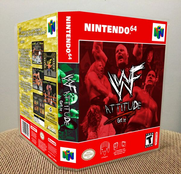 WWF Attitude N64 Game Case with Internal Artwork