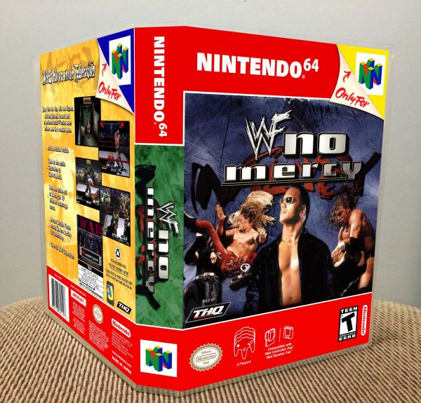 WWF No Mercy N64 Game Case with Internal Artwork