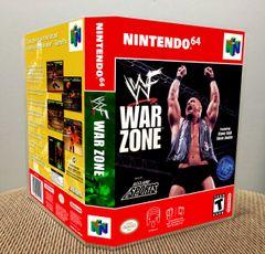 WWF War Zone N64 Game Case with Internal Artwork