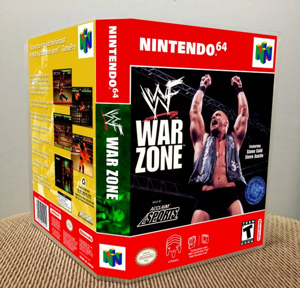 WWF War Zone N64 Game Case with Internal Artwork