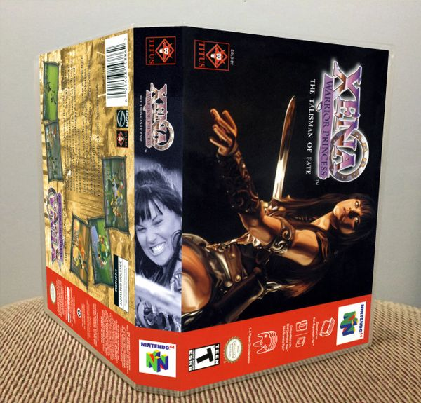 Xena: Warrior Princess: The Talisman of Fate N64 Game Case with Internal Artwork