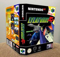 Lylat Wars N64 Game Case with Internal Artwork