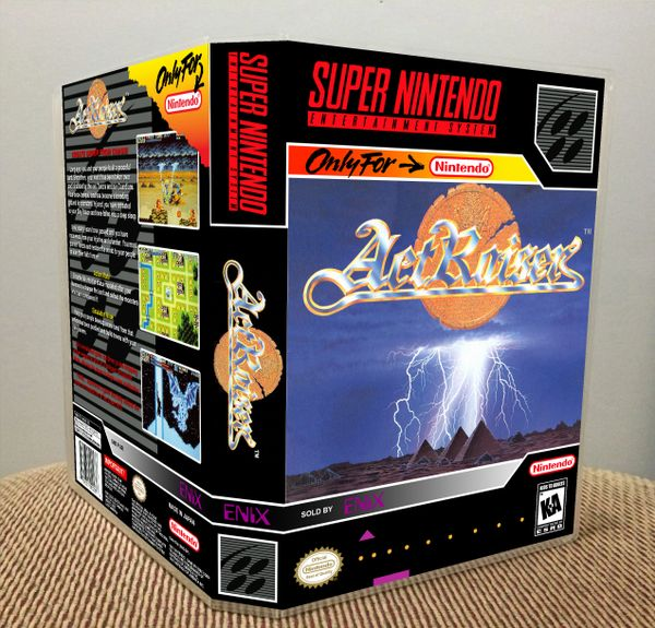 ActRaiser SNES Game Case with Internal Artwork