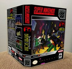 Adventures of Batman & Robin (The) SNES Game Case with Internal Artwork