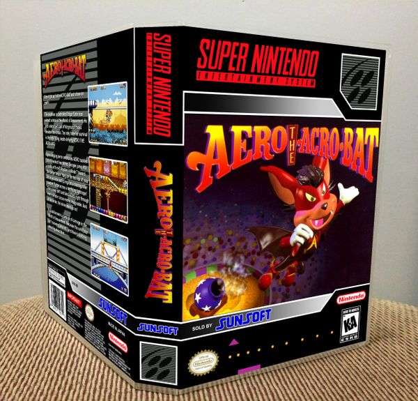 Aero the Acro-Bat SNES Game Case with Internal Artwork