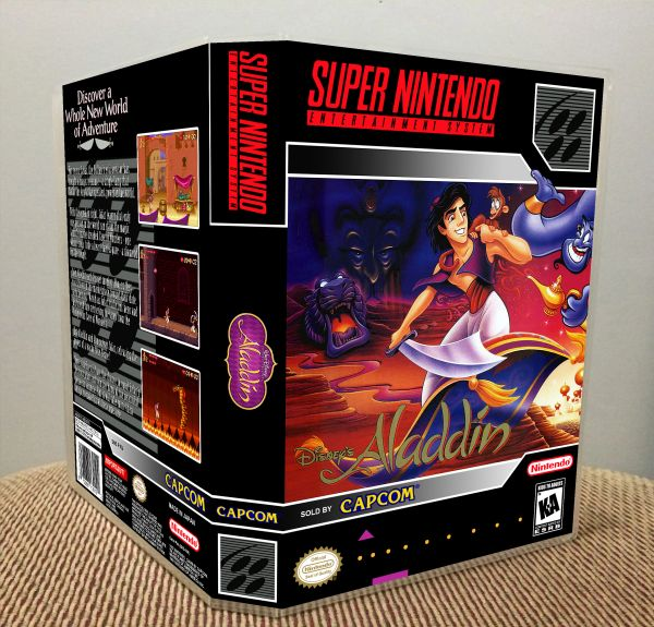 Aladdin SNES Game Case with Internal Artwork