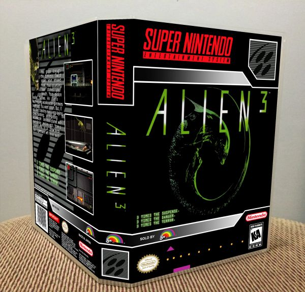 Alien 3 SNES Game Case with Internal Artwork