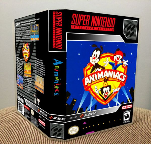 Animaniacs SNES Game Case with Internal Artwork