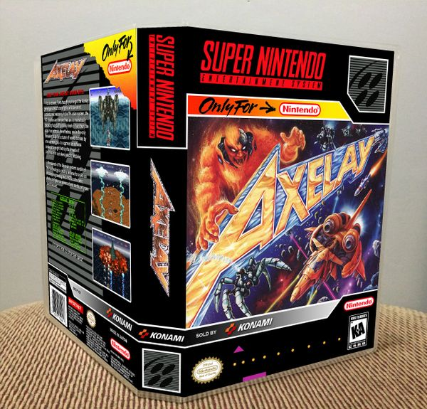 Axelay SNES Game Case with Internal Artwork