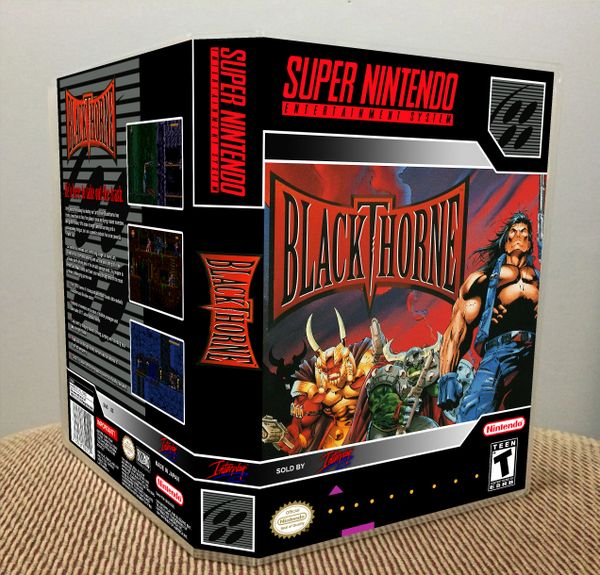 Blackthorne SNES Game Case with Internal Artwork