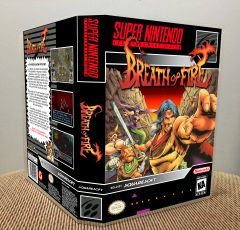 Breath of Fire SNES Game Case with Internal Artwork