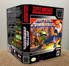 Captain Commando SNES Game Case with Internal Artwork