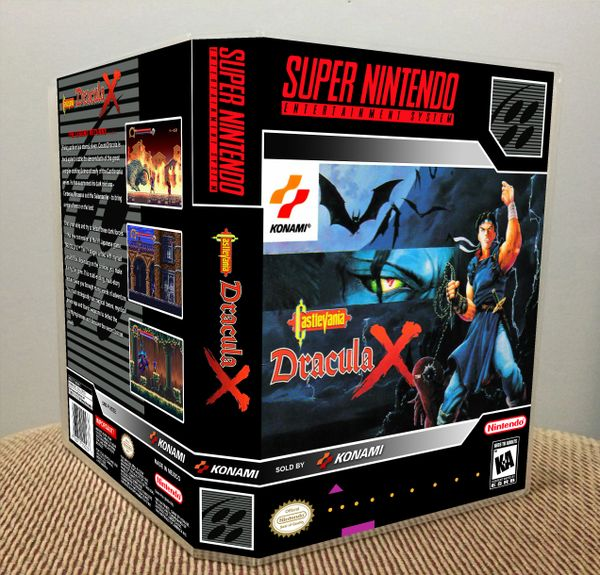 Castlevania: Dracula X SNES Game Case with Internal Artwork