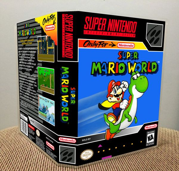 Super Mario World SNES Game Case with Internal Artwork