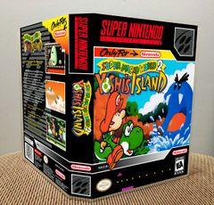 Super Mario World 2: Yoshi's Island SNES Game Case with Internal Artwork