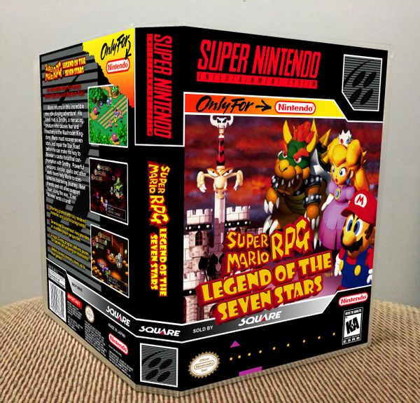 Super Mario RPG: Legend of the Seven Stars SNES Game Case with Internal Artwork