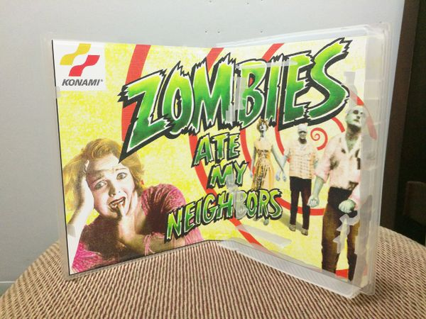 Zombies Ate My Neighbors SNES Game Case with Internal Artwork