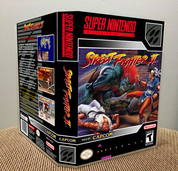 Street Fighter Ii Snes Game Case Game Case King Custom Game Cases For Nes Snes N64 Gameboy