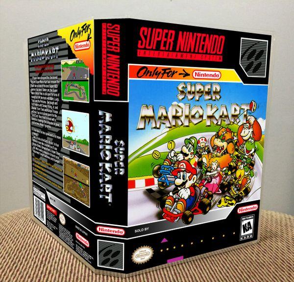 Super Mario Kart SNES Game Case with Internal Artwork