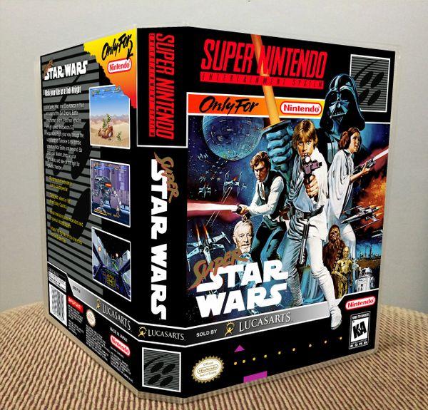 Super Star Wars SNES Game Case with Internal Artwork