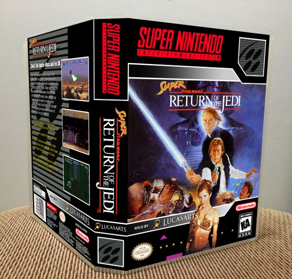 Super Star Wars: Return of the Jedi SNES Game Case with Internal Artwork