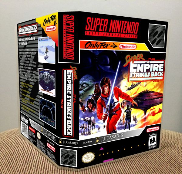 Super Star Wars: The Empire Strikes Back SNES Game Case with Internal Artwork