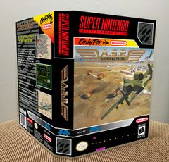 A.S.P. Air Strike Patrol SNES Game Case with Internal Artwork