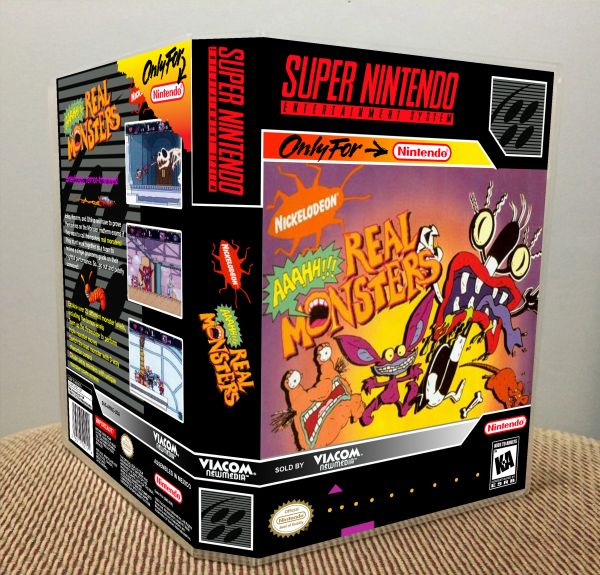 AAAHH!!! Real Monsters SNES Game Case with Internal Artwork