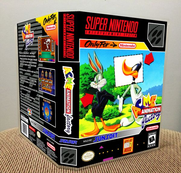 Acme Animation Factory SNES Game Case with Internal Artwork