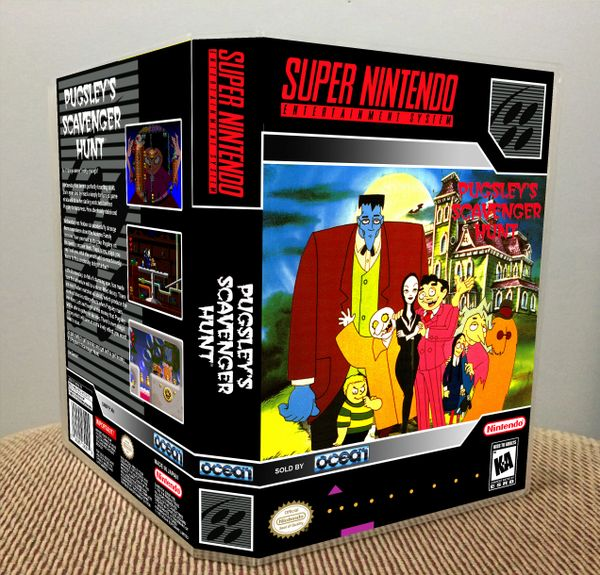 Addams Family: Pugsley's Scavenger Hunt (The) SNES Game Case with Internal Artwork