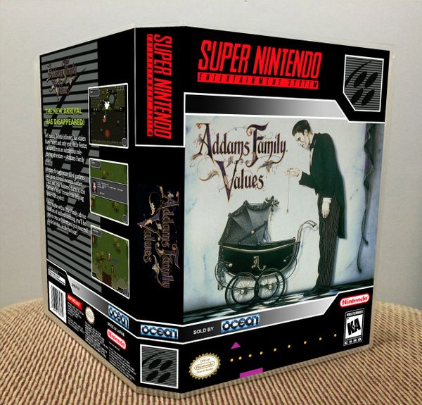 Addams Family Values SNES Game Case with Internal Artwork