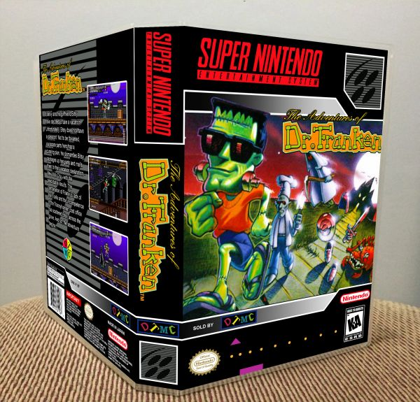 Adventures of Dr. Franken (The) SNES Game Case with Internal Artwork