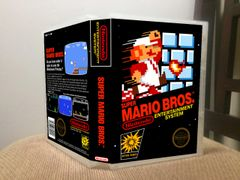 Super Mario Bros. NES Game Case with Internal Artwork