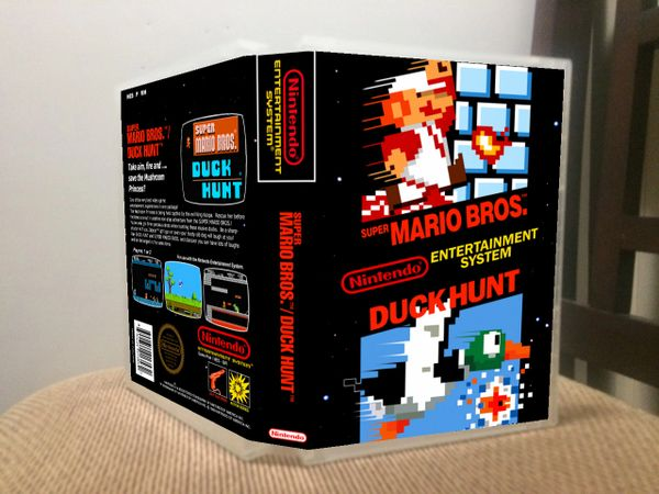 Super Mario Bros./Duck Hunt NES Game Case with Internal Artwork
