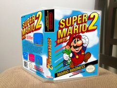 Super Mario Bros. 2 NES Game Case with Internal Artwork