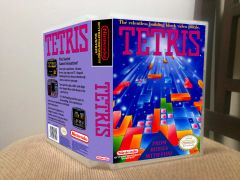 Tetris NES Game Case with Internal Artwork